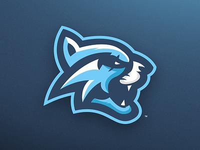 Blue Bobcat - Mascot Logo Design esports gaming branding sports tiger wildcat bobcat blue design logo mascot