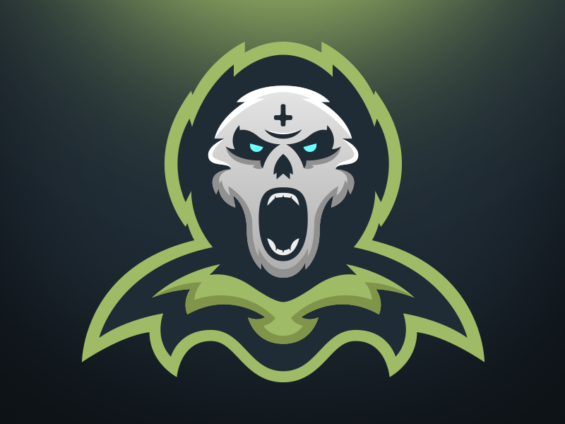 Final Centry - Mascot Logo Design sports gaming esports mascot design logo cloak scream reaper death final skull