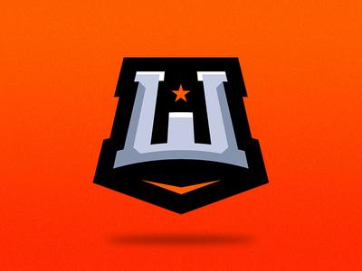 W Logo Design graphic online gaming esports sports sporty design mark logo w