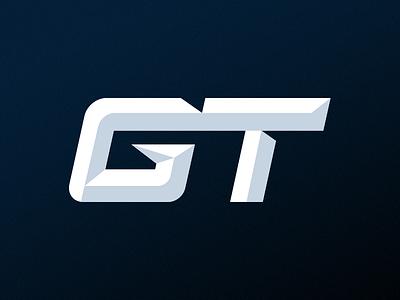 GT Logo Design t g competitive gamer sports gaming esports design logo gt