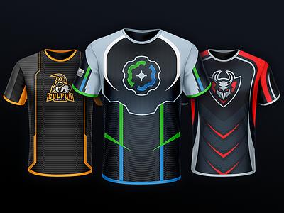 My Top 3 Jersey Designs - COG, Sulfur, and Mayhem sports esports gaming logo mascot sulfur mayhem cog design apparel jersey