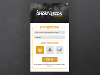 Ghost Recon: Wildlands - Beta Sign Up #DailyUI #001