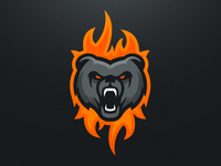 Fiery Bear - Mascot Logo Design