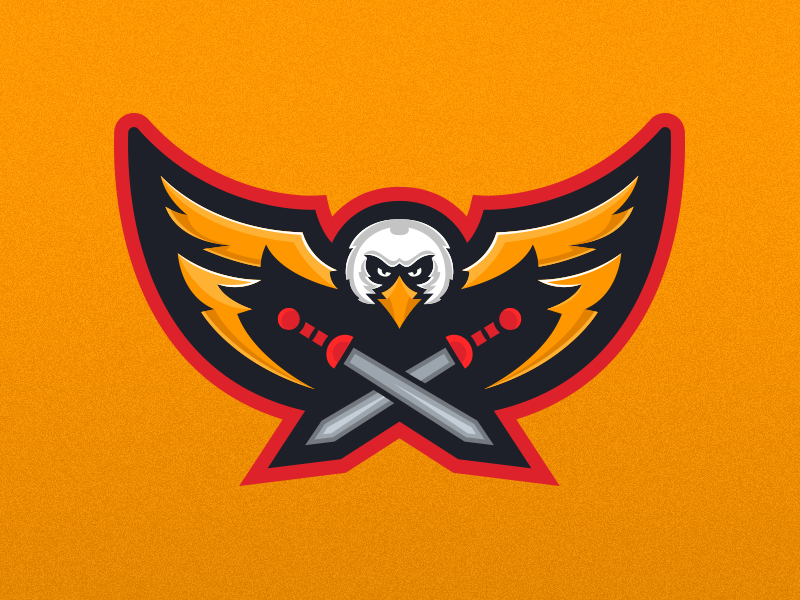 legatus legionis eagle mascot logo design by mason dickson dribbble dribbble. Black Bedroom Furniture Sets. Home Design Ideas