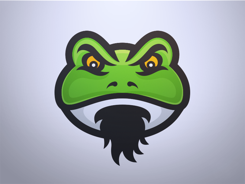 Father Frog - Mascot Logo Design lillypad swamp bullfrog gaming esports sports design lgoo mascot frog father