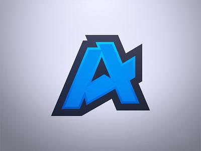 Avoid - Graphic Logo Design branding logo void blue redo revamp gaming esports sharp letter a avoid