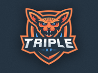 Sphinx Cat Mascot Logo - TripleXP