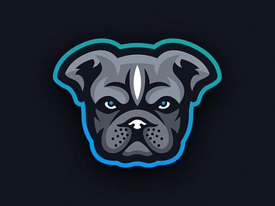 Bully Mascot Logo - Animal Focused pit ears dog merch merchandise apparel sports esports logo mascot pitbull bully