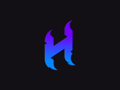 HauntR - Letter H Graphic Logo spooky ghost sharp gaming esports sports graphic design logo h haunt haunted