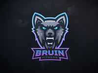 Bruin Fitness - Wolf Mascot Logo