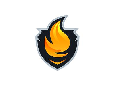 Flame Logo Design - Nightshadow stream streamer livestream twitch sports gaming esports design logo fire shield flame