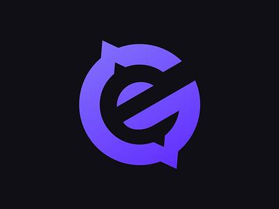 Grand Evolution - Graphic Logo Design purple zap planet design logo sports esports gaming ge evolution evo grand
