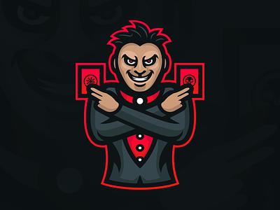 Magician - Mascot Logo Design witch wizard sorcerer evil cards magic esports gaming design logo mascot magician
