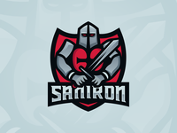SanIron - Knights Templar Mascot Logo Design