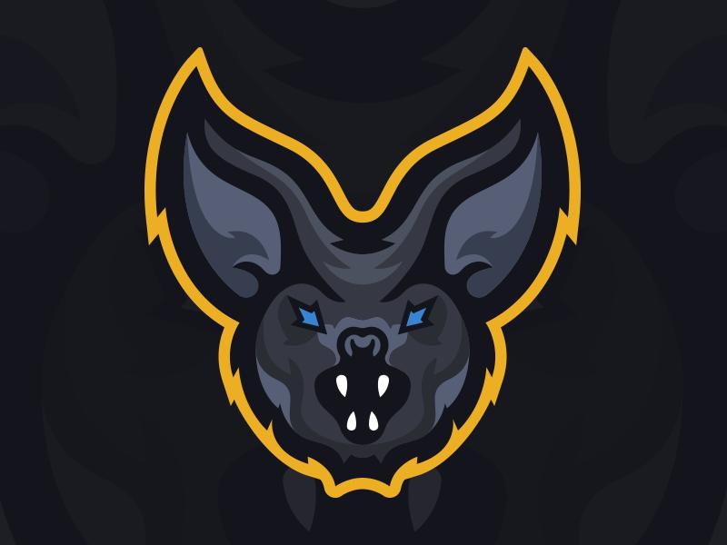 BatmanOnWeekends - Bat Mascot Logo bat illustration graphic identity branding design mascot sports esports gaming logo