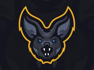 BatmanOnWeekends - Bat Mascot Logo