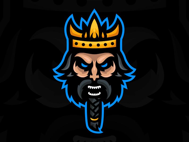 Ragnar - Viking King Mascot Logo king viking illustration shield graphic identity branding design mascot sports esports gaming logo