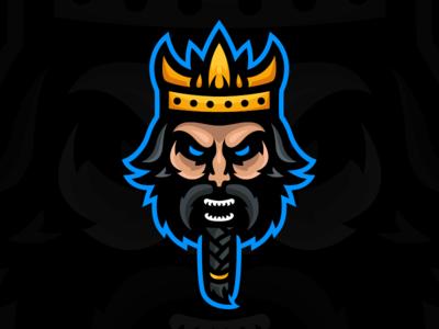 Ragnar - Viking King Mascot Logo