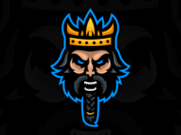 Ragnar - Viking King Mascot Logo king viking illustration shield graphic identity branding design mascot sports esports gaming logo
