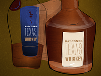 Balcones Whiskey Illustration