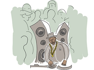 That's My Dj line art vector african american illustration