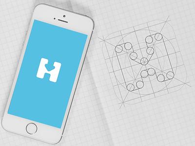 H-Hotel Logo icon illustration concept logo minimal booking hotel icon app ios