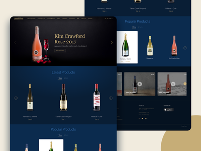Landing page for a Wine and Spirits agency layout landing page landing bottle clean wine ux concept branding web design ui