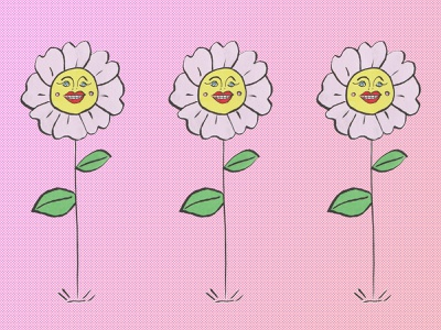 flower people flower design hand drawn illustration