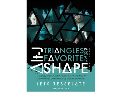 ∆lt-J Poster alternative triangles band promotional poster