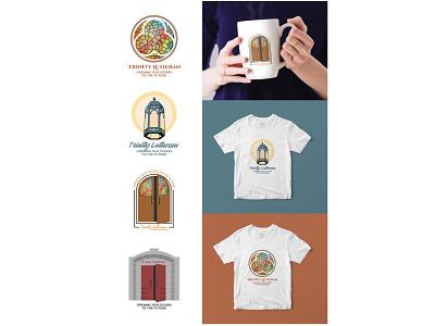Trinity Lutheran Logo doors lutheran church logo graphic design