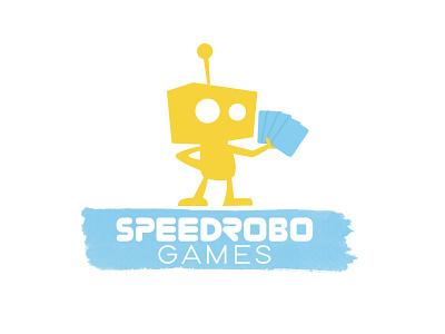 Speedrobo Games card games gaming robot branding logo design graphic design