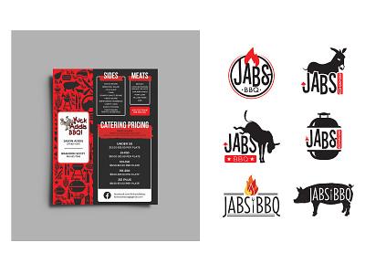 Kick Addis BBQ Menu meat barbeque menu design branding logo design graphic design