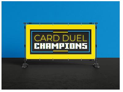 Card Duel Champions Logo retro video game logo design graphic design
