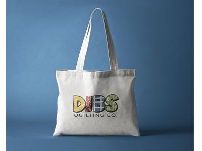 DIBS Quilting Co. Logo quilting logo design graphic design