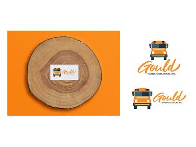 Gould Transportation Inc. yellow school bus logo graphic design