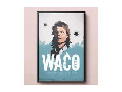 Waco poster documentary waco graphic design