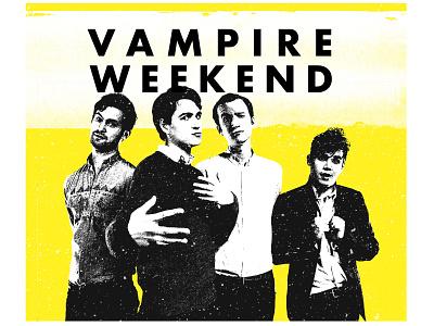 Vampire Weekend Fan Art-1 album cover art yellow vampire weekend alternative band far art graphic design