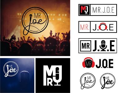 Mr. J.O.E emcee logo design graphic design
