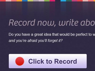 Writing is fun III colorful large button red circle italic font