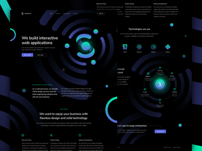 Scopevio - Landing Page & Branding for a software house logo dark clean onepager onepage ui react user experience sketch branding software house website web design web ux company ui design landing page landingpage landing