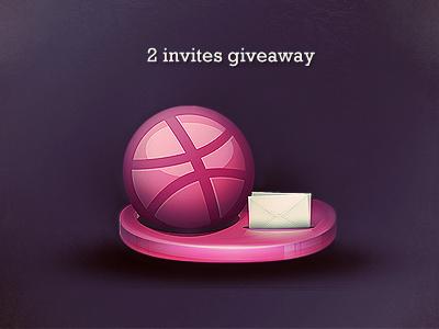 Dribbble invites giveaway dribbble invite giveaway pink violet envelope oz1on