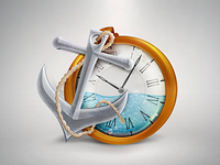 Anchor and clock