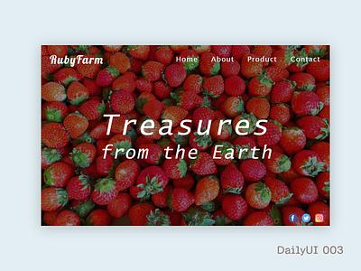 DailyUI 003_ Landing Page dailyui dailyui 003 adobe xd