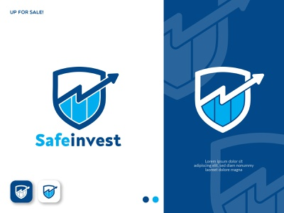 Safe Invest Logo Concept minimalist logo icon brand identity design logo design branding logo design safe invest shield logo forex logo trading logo