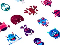 Monsters Stickers Set