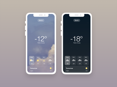 Cold & Snowy Weather Forecast clouds weathered mobile blue weather icon weather widget weather forecast cold snow weather clean interface daily design ui