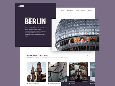 Berlin! clean unsplash photography weekly warmup hometown purple germany berlin website website landingpage landing interface daily design berlin