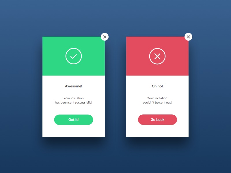Flash message daily ui 011 by timea konya dribbble for Pop up window design inspiration