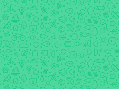 Sustainability icon pattern bicycle vegetables leaf trees recycle eco sustainable green background pattern icon