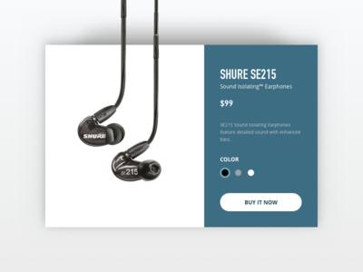 E-commerce Shop - Daily UI #012 daily ui clean music sound blue headphones shop e-commerce